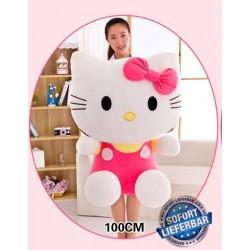 Hello Kitty Plüschtier Hellokitty Plüsch Kuschel Katze XXL ca. 100cm Gross Geschenk Mädchen Neu