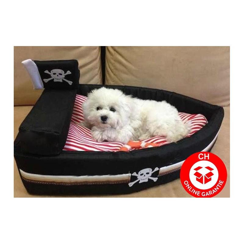 hund katze schlafplatz bett hundebett katzenbett piratenschiff schiff piraten design. Black Bedroom Furniture Sets. Home Design Ideas