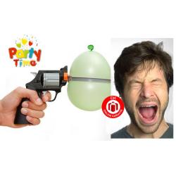 Russisch Roulette Party Spiel Partypistole Revolver Ballon Ballonspiel