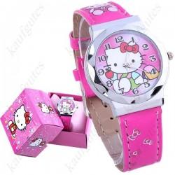 Hello Kitty Mädchen Girl Armbanduhr Geschenk Mädchen mit Box