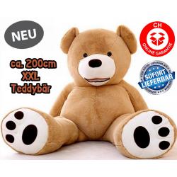 Grosser Plüsch Teddy Teddybär Plüsch Bär Plüschbär Kuschelbär Plüschtier 200cm XXL Geschenk Kinder Frauen