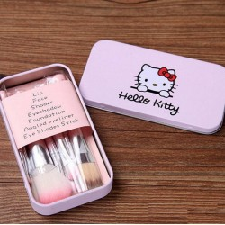 Hello Kitty Hellokitty Pinsel Pinselset Beauty 7 teiliges Bürstenset Geschenk