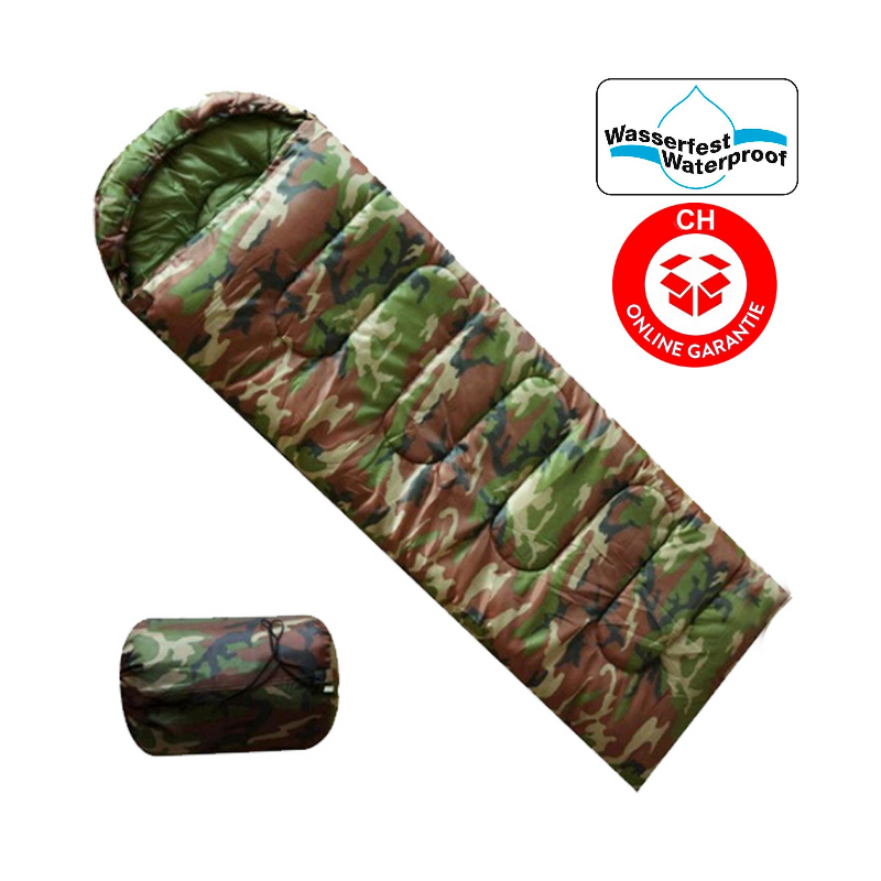 milit r camping schlafsack f r zelten openair camouflage. Black Bedroom Furniture Sets. Home Design Ideas
