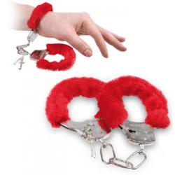 Rote Handschellen Plüsch Handschellen Liebesnächte Geschenk Erotik Spielzeug Gag