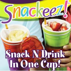Snackeez clevere Aufbewahrungslösung Behälter Essen Trinken Usa TV Hit