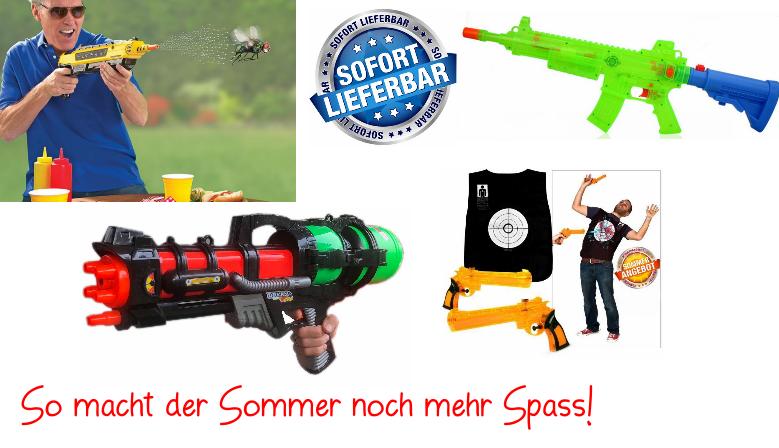 Wasserpistole, Wasserpistolen, Sommer, Wasser, Bug-a-Salt