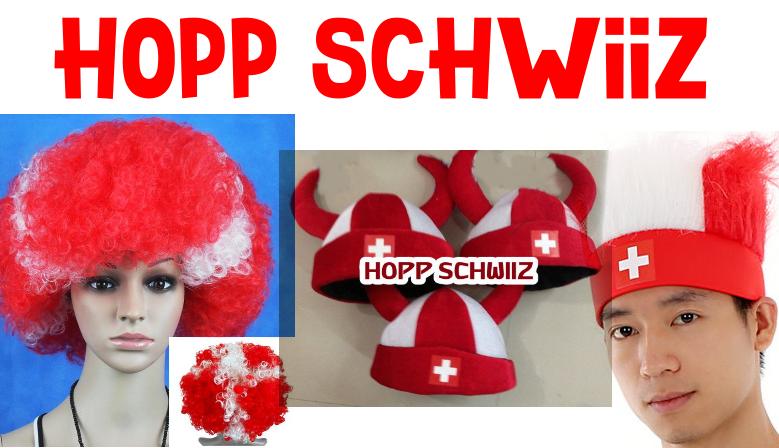 Schweiz, Schwiiz, Fan, Shop, Perücke, Cap